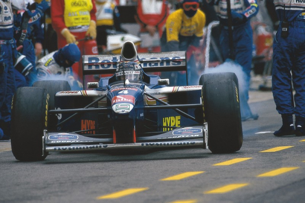 Jacques coming out of pits