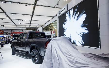TORONTO, ON - FEBRUARY 14: Dodge  unveils a new truck at the 2019 Canadian International Auto Show at the Metro Toronto Convention Centre on February 14, 2019 in Toronto, Ontario, Canada. (Photo by Lucas Oleniuk)