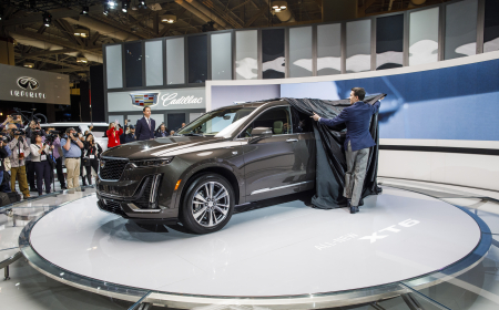 TORONTO, ON - FEBRUARY 14: Cadillac unveil a new vehicle at the 2019 Canadian International Auto Show at the Metro Toronto Convention Centre on February 14, 2019 in Toronto, Ontario, Canada. (Photo by Lucas Oleniuk)