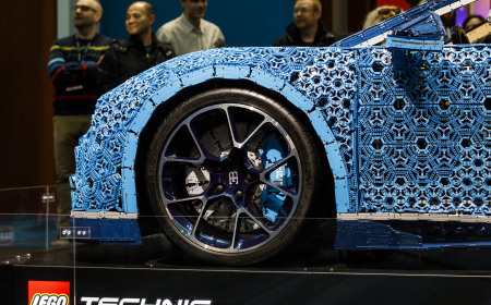 TORONTO, ON - FEBRUARY 13: LEGO North American reveal of Bugatti Chiron at the 2019 Canadian International Auto Show at the Metro Toronto Convention Centre on February 13, 2019 in Toronto, Ontario, Canada. (Photo by Lucas Oleniuk)