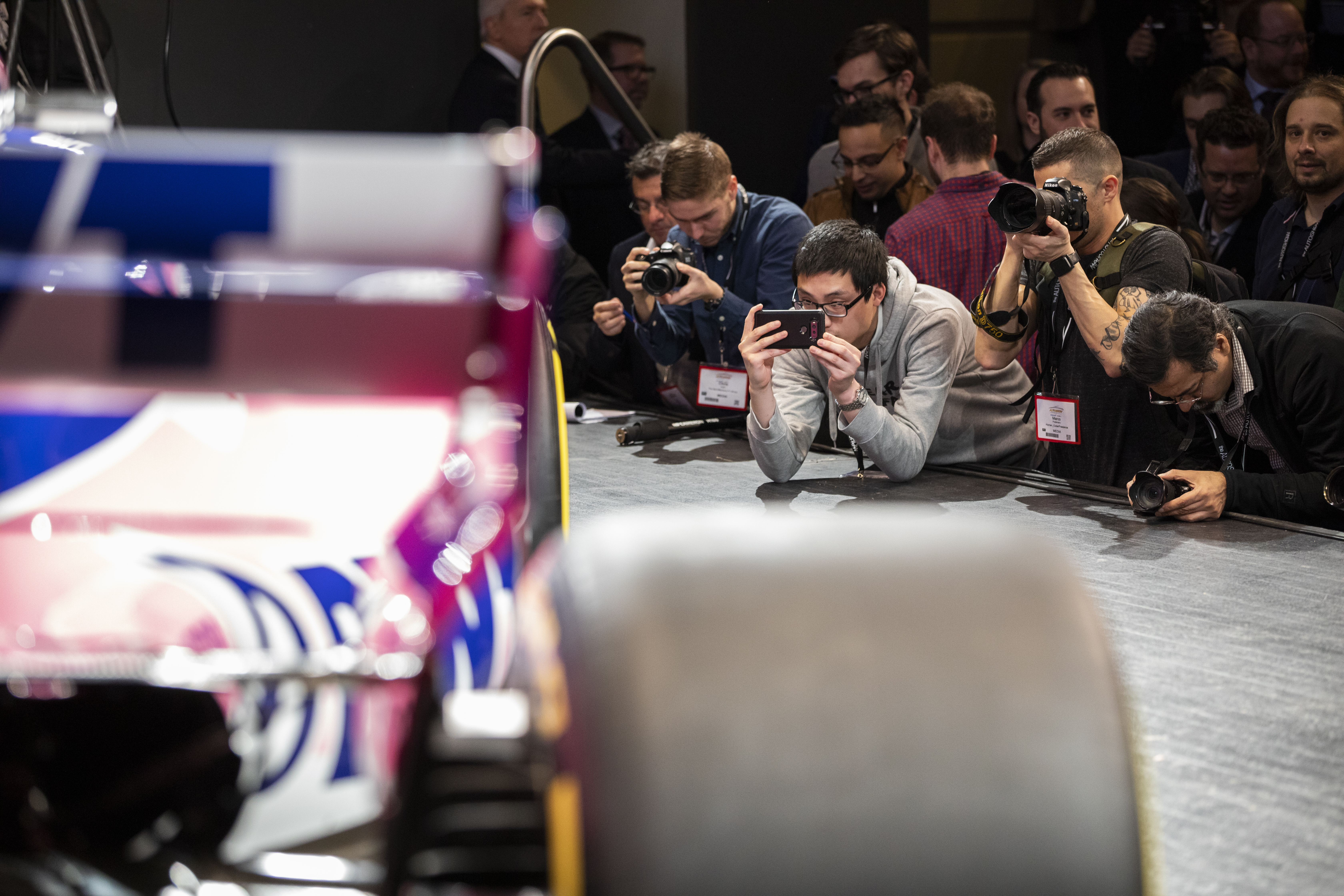 TORONTO, ON - FEBRUARY 13: Racing Point F1 team launch at the 2019 Canadian International Auto Show at the Metro Toronto Convention Centre on February 13, 2019 in Toronto, Ontario, Canada. (Photo by Lucas Oleniuk)