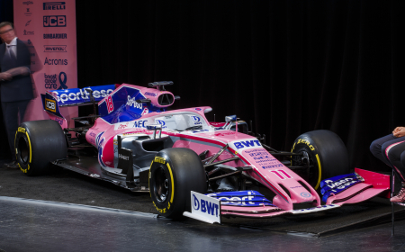 TORONTO, ON - FEBRUARY 13: Racing Point F1 team launch at the 2019 Canadian International Auto Show at the Metro Toronto Convention Centre on February 13, 2019 in Toronto, Ontario, Canada. (Photo by Marcus Oleniuk)