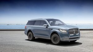 New Navigator Concept design was inspired by luxury sailboats and yachts, from the clean, modern lines, to the Storm Blue exterior paint to the teak finishes and custom gear found inside.